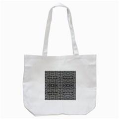 Cyberpunk Silver Print Pattern  Tote Bag (white)
