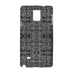Cyberpunk Silver Print Pattern  Samsung Galaxy Note 4 Hardshell Case