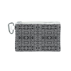 Cyberpunk Silver Print Pattern  Canvas Cosmetic Bag (Small)
