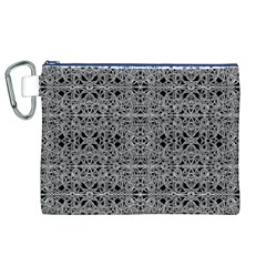 Cyberpunk Silver Print Pattern  Canvas Cosmetic Bag (XL)