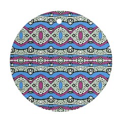 Aztec Style Pattern In Pastel Colors Round Ornament