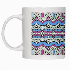 Aztec Style Pattern In Pastel Colors White Coffee Mug
