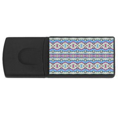Aztec Style Pattern In Pastel Colors 4gb Usb Flash Drive (rectangle)
