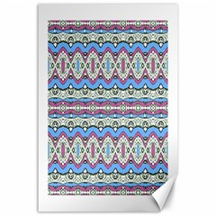 Aztec Style Pattern in Pastel Colors Canvas 24  x 36  (Unframed)