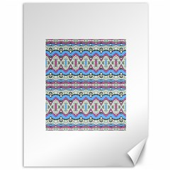 Aztec Style Pattern in Pastel Colors Canvas 36  x 48  (Unframed)