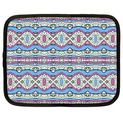 Aztec Style Pattern In Pastel Colors Netbook Sleeve (xl)