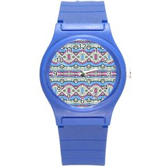 Aztec Style Pattern In Pastel Colors Plastic Sport Watch (small)
