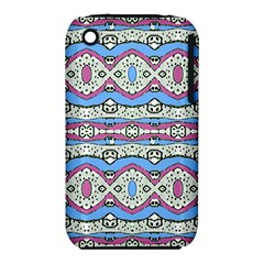 Aztec Style Pattern In Pastel Colors Apple Iphone 3g/3gs Hardshell Case (pc+silicone)