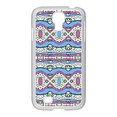 Aztec Style Pattern In Pastel Colors Samsung Galaxy S4 I9500/ I9505 Case (white)
