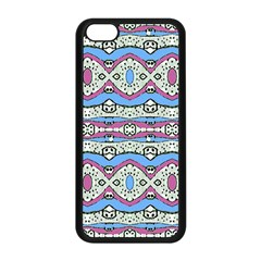 Aztec Style Pattern In Pastel Colors Apple Iphone 5c Seamless Case (black)