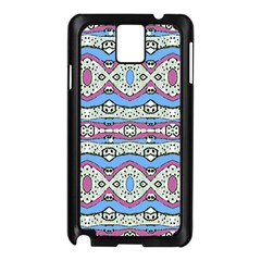 Aztec Style Pattern in Pastel Colors Samsung Galaxy Note 3 N9005 Case (Black)