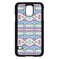 Aztec Style Pattern In Pastel Colors Samsung Galaxy S5 Case (black)