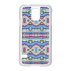 Aztec Style Pattern in Pastel Colors Samsung Galaxy S5 Case (White)