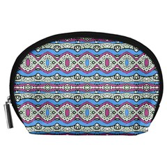 Aztec Style Pattern In Pastel Colors Accessory Pouch (large)