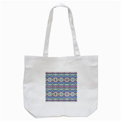 Aztec Style Pattern in Pastel Colors Tote Bag (White)