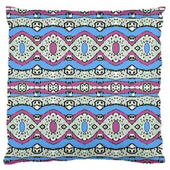 Aztec Style Pattern in Pastel Colors Large Flano Cushion Case (One Side)