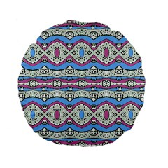 Aztec Style Pattern in Pastel Colors 15  Premium Flano Round Cushion