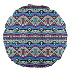 Aztec Style Pattern in Pastel Colors 18  Premium Flano Round Cushion  Front