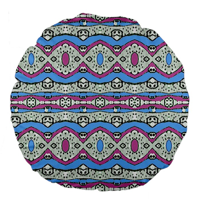 Aztec Style Pattern in Pastel Colors 18  Premium Flano Round Cushion