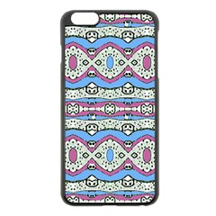 Aztec Style Pattern in Pastel Colors Apple iPhone 6 Plus Black Enamel Case
