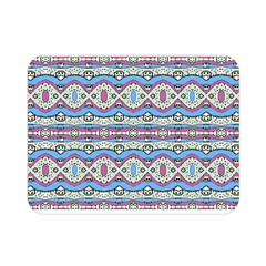 Aztec Style Pattern in Pastel Colors Double Sided Flano Blanket (Mini)
