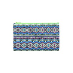 Aztec Style Pattern In Pastel Colors Cosmetic Bag (xs)