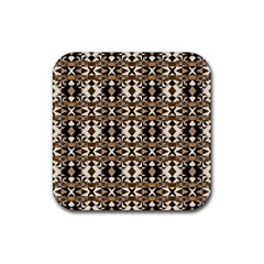 Geometric Tribal Style Pattern In Brown Colors Scarf Drink Coasters 4 Pack (square)