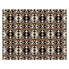 Geometric Tribal Style Pattern In Brown Colors Scarf Jigsaw Puzzle (rectangle)