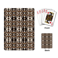 Geometric Tribal Style Pattern In Brown Colors Scarf Playing Cards Single Design