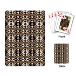 Geometric Tribal Style Pattern in Brown Colors Scarf Playing Cards Single Design Back