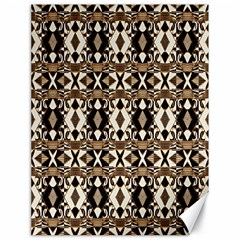 Geometric Tribal Style Pattern In Brown Colors Scarf Canvas 18  X 24  (unframed)