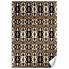 Geometric Tribal Style Pattern In Brown Colors Scarf Canvas 20  X 30  (unframed)
