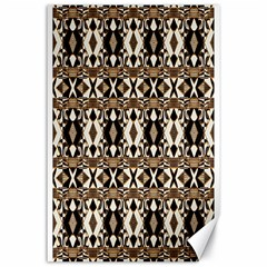 Geometric Tribal Style Pattern in Brown Colors Scarf Canvas 24  x 36  (Unframed)