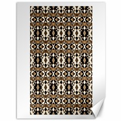 Geometric Tribal Style Pattern In Brown Colors Scarf Canvas 36  X 48  (unframed)