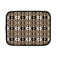 Geometric Tribal Style Pattern In Brown Colors Scarf Netbook Sleeve (small)