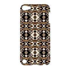 Geometric Tribal Style Pattern In Brown Colors Scarf Apple Ipod Touch 5 Hardshell Case