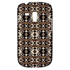 Geometric Tribal Style Pattern In Brown Colors Scarf Samsung Galaxy S3 Mini I8190 Hardshell Case