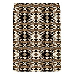 Geometric Tribal Style Pattern In Brown Colors Scarf Removable Flap Cover (small)
