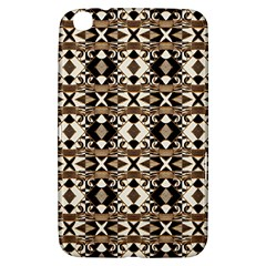 Geometric Tribal Style Pattern in Brown Colors Scarf Samsung Galaxy Tab 3 (8 ) T3100 Hardshell Case