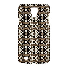 Geometric Tribal Style Pattern In Brown Colors Scarf Samsung Galaxy S4 Active (i9295) Hardshell Case