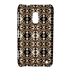 Geometric Tribal Style Pattern in Brown Colors Scarf Nokia Lumia 620 Hardshell Case