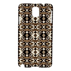 Geometric Tribal Style Pattern In Brown Colors Scarf Samsung Galaxy Note 3 N9005 Hardshell Case