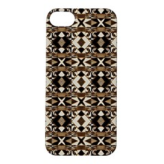 Geometric Tribal Style Pattern In Brown Colors Scarf Apple Iphone 5s Hardshell Case