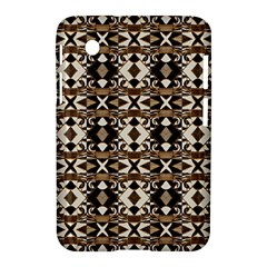 Geometric Tribal Style Pattern in Brown Colors Scarf Samsung Galaxy Tab 2 (7 ) P3100 Hardshell Case