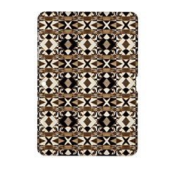 Geometric Tribal Style Pattern in Brown Colors Scarf Samsung Galaxy Tab 2 (10.1 ) P5100 Hardshell Case