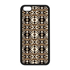 Geometric Tribal Style Pattern In Brown Colors Scarf Apple Iphone 5c Seamless Case (black)