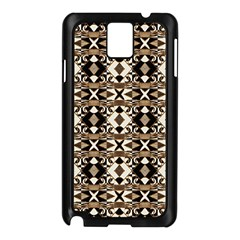Geometric Tribal Style Pattern in Brown Colors Scarf Samsung Galaxy Note 3 N9005 Case (Black)