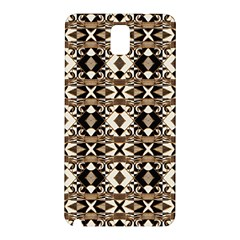 Geometric Tribal Style Pattern in Brown Colors Scarf Samsung Galaxy Note 3 N9005 Hardshell Back Case