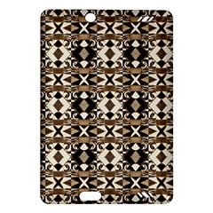 Geometric Tribal Style Pattern In Brown Colors Scarf Kindle Fire Hd (2013) Hardshell Case
