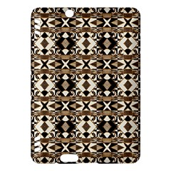 Geometric Tribal Style Pattern in Brown Colors Scarf Kindle Fire HDX Hardshell Case